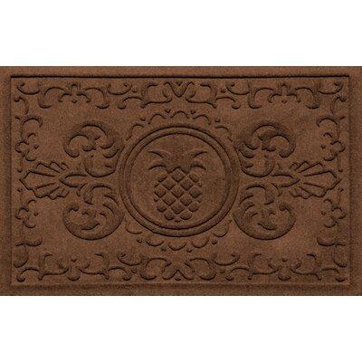 Aqua Shield Baroque Pineapple Doormat Color: Dark Brown