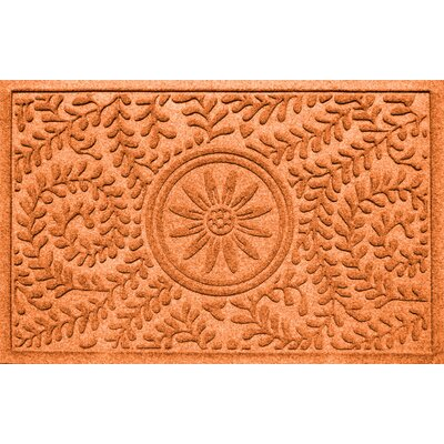 Conway Boxwood Sun Doormat Color: Orange