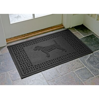 Aqua Shield Beagle Doormat Color: Charcoal