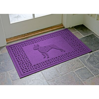 Conway Boston Terrier Doormat Color: Purple