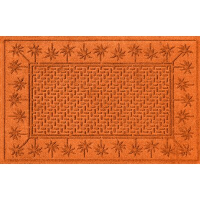 Aqua Shield Island Palms Doormat Color: Orange