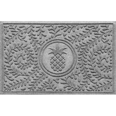 Aqua Shield Boxwood Pineapple Doormat Color: Medium Gray