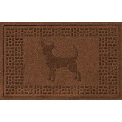 Aqua Shield Chihuahua Doormat Color: Dark Brown
