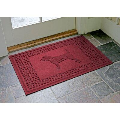 Aqua Shield Beagle Doormat Color: Red/Black