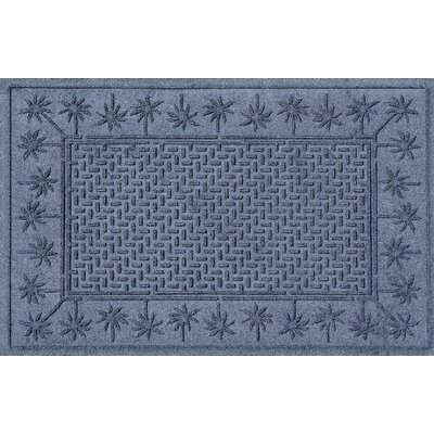 Aqua Shield Island Palms Doormat Color: Bluestone