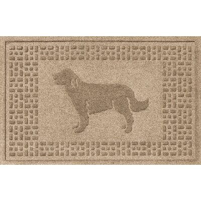 Aqua Shield Golden Retriever Doormat Color: Camel