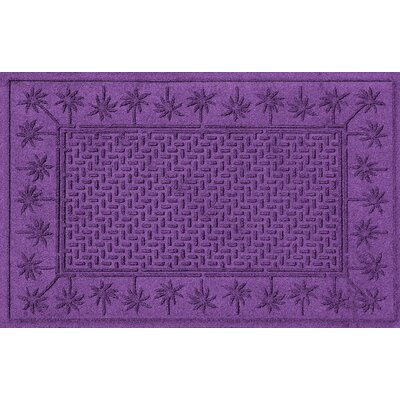 Aqua Shield Island Palms Doormat Color: Purple