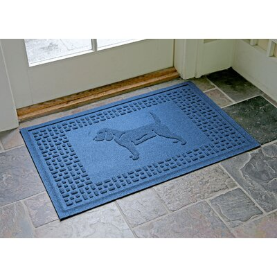 Aqua Shield Beagle Doormat Color: Medium Blue