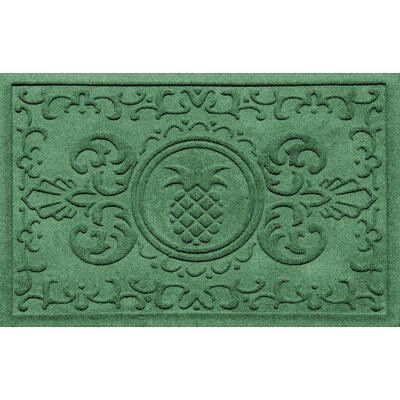 Aqua Shield Baroque Pineapple Doormat Color: Light Green