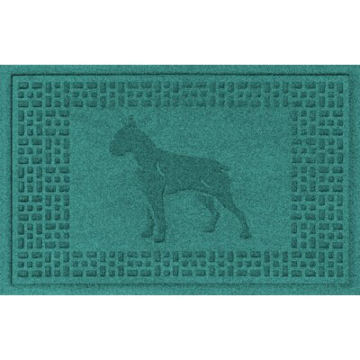 Aqua Shield Boxer Doormat Color: Aquamarine