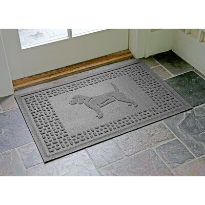 Aqua Shield Beagle Doormat Color: Medium Gray