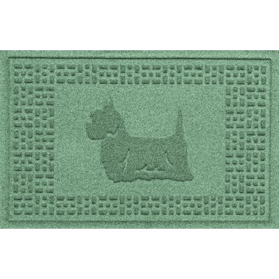 Aqua Shield Yorkie Doormat Color: Light Green