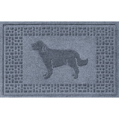 Conway Golden Retriever Doormat Color: Bluestone