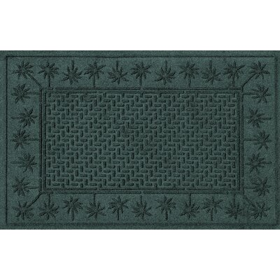 Aqua Shield Island Palms Doormat Color: Evergreen