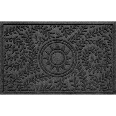 Aqua Shield Boxwood Ships Wheel Doormat Color: Charcoal