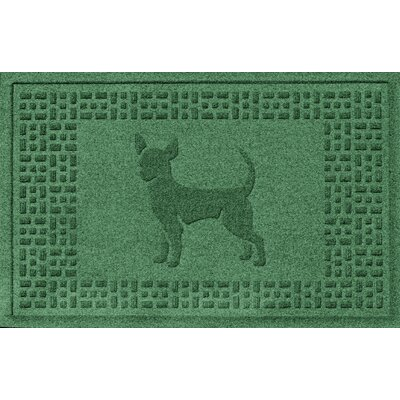 Aqua Shield Chihuahua Doormat Color: Light Green
