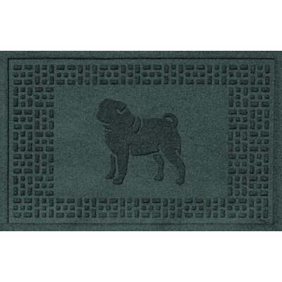 Conway Pug Doormat Color: Evergreen