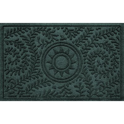 Aqua Shield Boxwood Sun Doormat Color: Evergreen