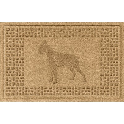 Aqua Shield Boxer Doormat Color: Gold
