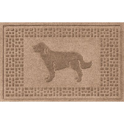 Conway Golden Retriever Doormat Color: Medium Brown