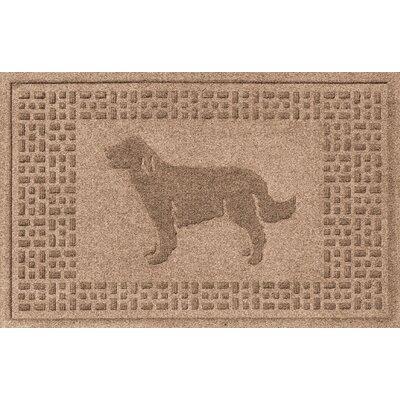 Aqua Shield Golden Retriever Doormat Color: Medium Brown