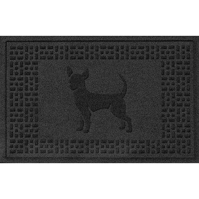 Aqua Shield Chihuahua Doormat Color: Charcoal
