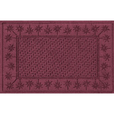 Aqua Shield Island Palms Doormat Color: Bordeaux