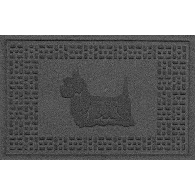 Aqua Shield Yorkie Doormat Color: Charcoal