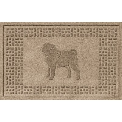 Conway Pug Doormat Color: Camel