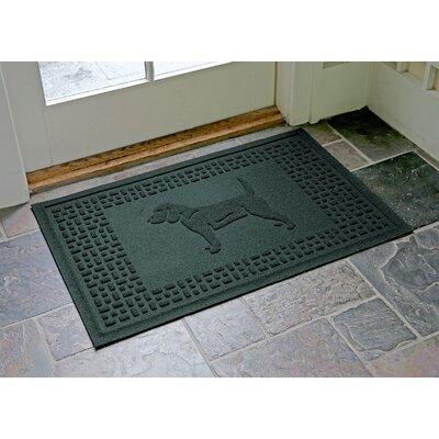 Aqua Shield Beagle Doormat Color: Evergreen