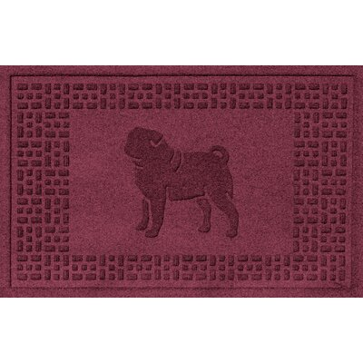 Aqua Shield Pug Doormat Color: Bordeaux