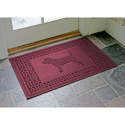 Aqua Shield Beagle Doormat Color: Bordeaux