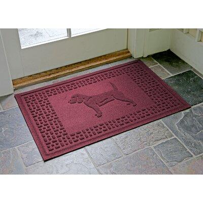 Aqua Shield Beagle Doormat Color: Bordeaux