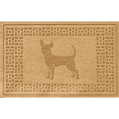 Aqua Shield Chihuahua Doormat Color: Gold