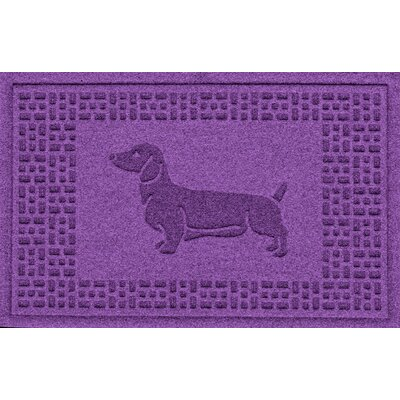 Conway Dachshund Doormat Color: Purple