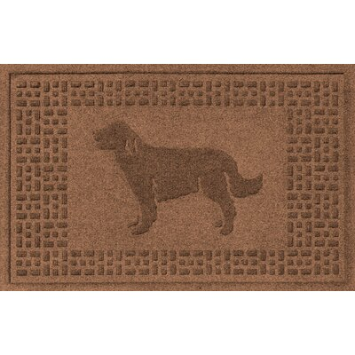 Conway Golden Retriever Doormat Color: Dark Brown