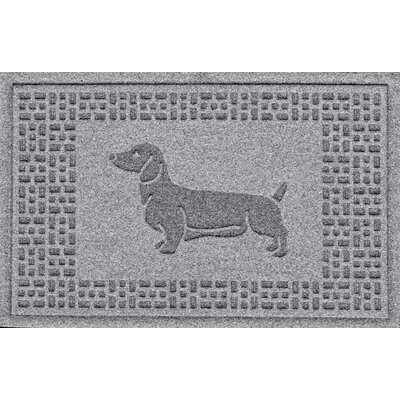 Conway Dachshund Doormat Color: Medium Gray