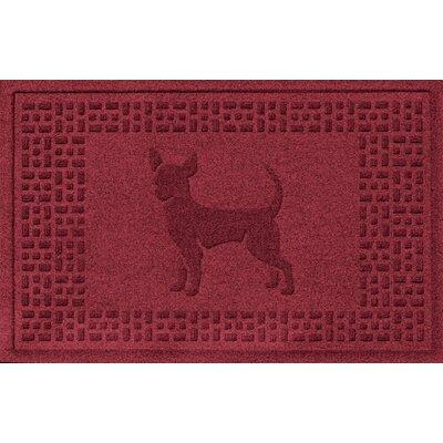 Aqua Shield Chihuahua Doormat Color: Red/Black