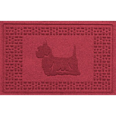 Aqua Shield Yorkie Doormat Color: Red/Black