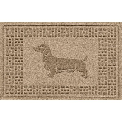 Aqua Shield Dachshund Doormat Color: Camel
