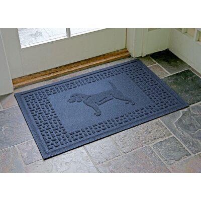 Aqua Shield Beagle Doormat Color: Navy