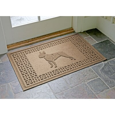 Conway Boston Terrier Doormat Color: Camel