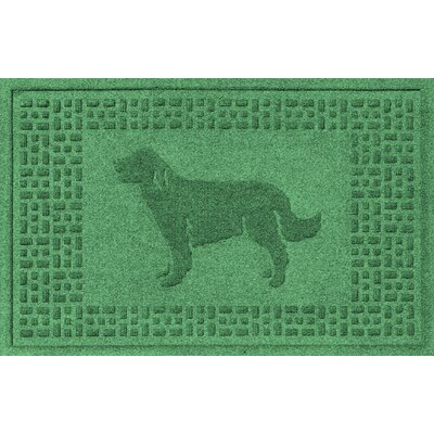 Conway Golden Retriever Doormat Color: Light Green