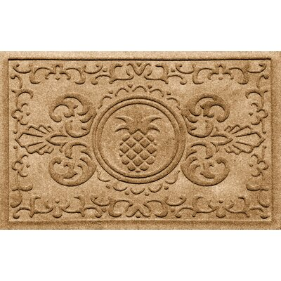 Aqua Shield Baroque Pineapple Doormat Color: Gold