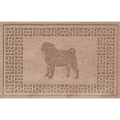 Conway Pug Doormat Color: Medium Brown