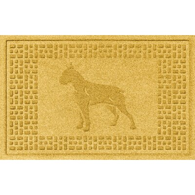 Aqua Shield Boxer Doormat Color: Yellow