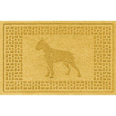 Aqua Shield Boxer Doormat Color: Yellow