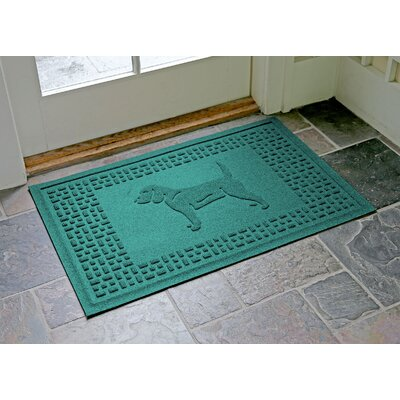 Aqua Shield Beagle Doormat Color: Aquamarine