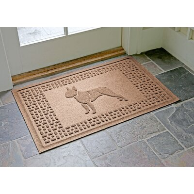 Aqua Shield Boston Terrier Doormat Color: Medium Brown
