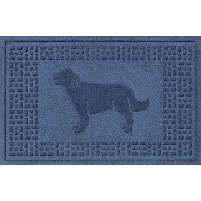 Aqua Shield Golden Retriever Doormat Color: Navy